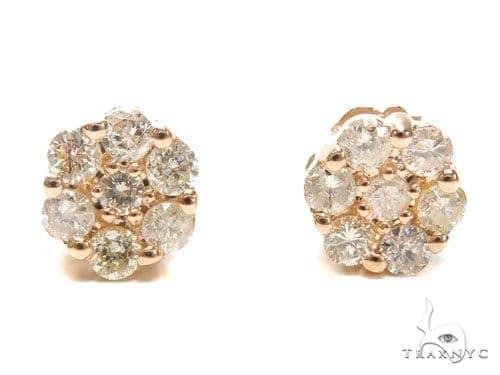 Cluster Diamond Earrings 40933 Stone