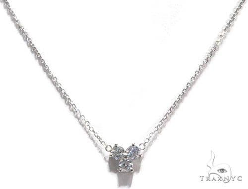 Triple Diamond Necklace 40935 Diamond