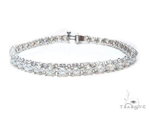 Prong Diamond Tennis Bracelet 41761 Tennis