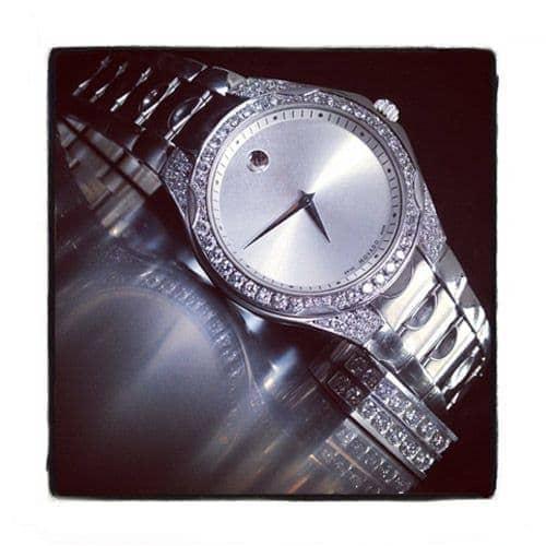 Pave Diamond Movado Watch 41980 Movado