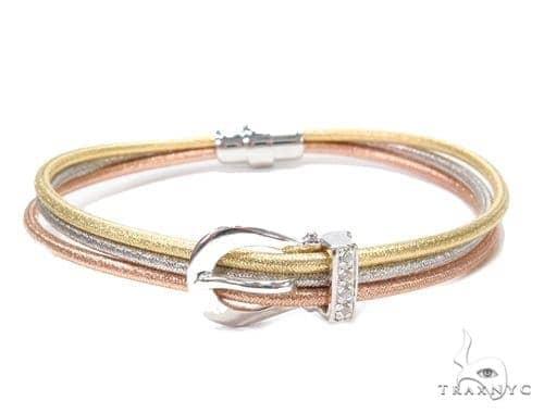 Multi Color Buckle Silver Bracelet 43003 Silver & Stainless Steel