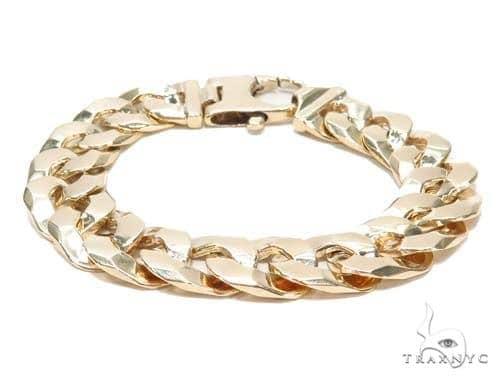 Cuban/Curb Gold Bracelet 43114 Gold