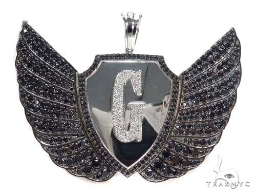 G Eagle Diamond Pendant 43562 Metal