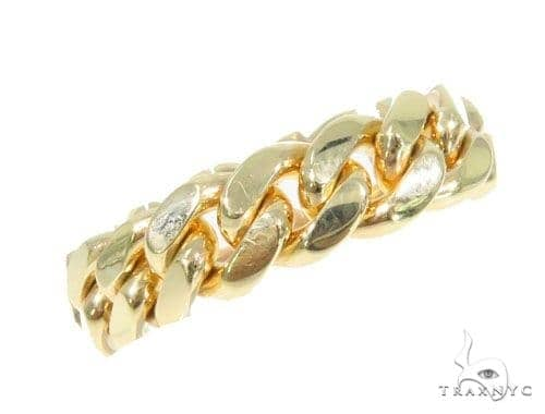 10k Yellow Gold Miami Cuban Ring 44393 Metal