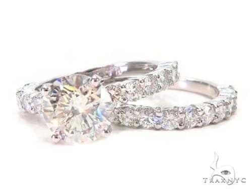Prong Diamond Engagement Ring Set 44606 Engagement