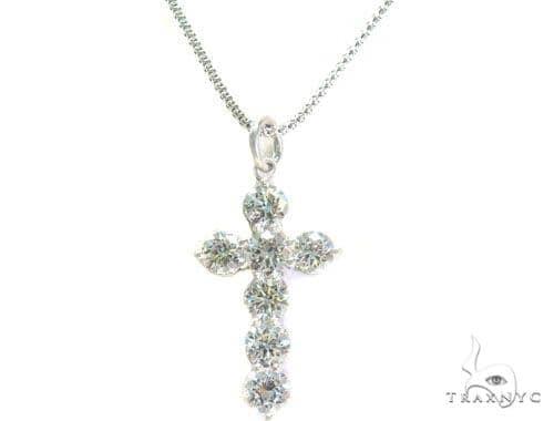 Prong Diamond Cross Necklace Set 44601 Diamond