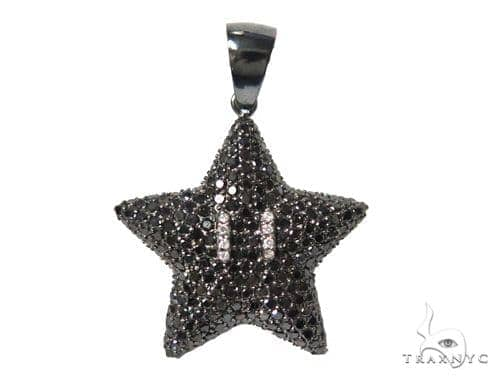 Super Mario Bros Star Black Color 44896 Metal