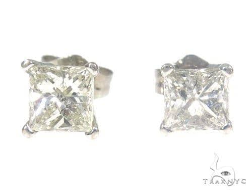Prong Diamond Stud Earrings 45057 Style