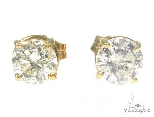 Prong Diamond Stud Earrings 45055 Style