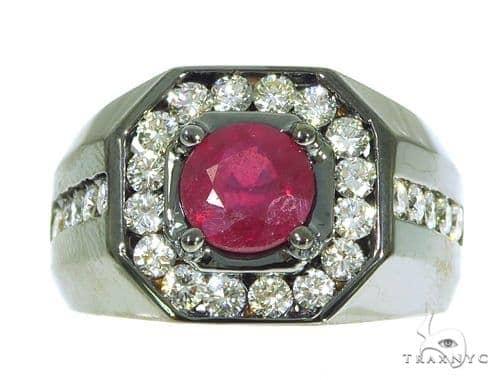 Godfather Ruby Diamond Ring 45360 Stone
