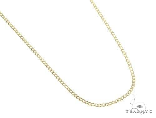 Mens 10k Hollow Yellow Gold Cuban/curb Chain 22 Inches 2.4mm 2.63 Grams 47074 Gold