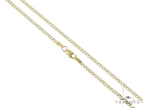 Mens 14k Solid Yellow Gold Cuban/curb Chain 16 Inches 2.1mm 3.46 Grams 47126 Gold