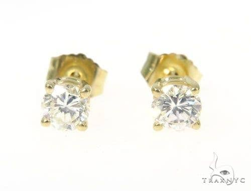 Prong Diamond Earrings 43236 Stone