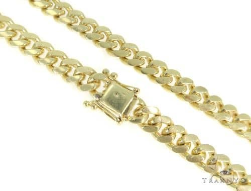 Miami Cuban Gold Chain 24 Inches 8mm 113.4 Grams 49627 Gold
