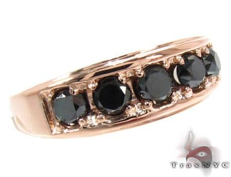 Gold Black Diamond Ring 28402 Stone