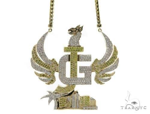 Phoenix Diamond Pendant Chain 49786 Metal