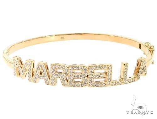 Custom Name Marbella Diamond Bracelet 45614 Diamond