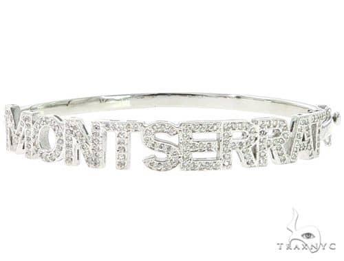 Custom Name Montserrat Diamond Bracelet 45615 Diamond
