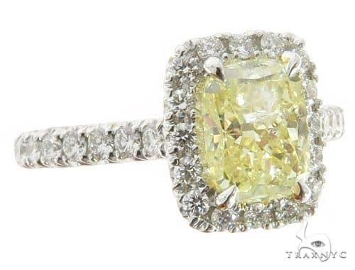 Cushion Cut Halo Diamond Engagement Ring 45618 Engagement