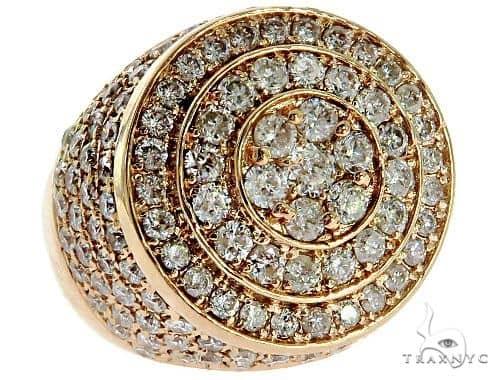 Mens Rose Gold Mayan Pinky Ring 57041 Stone