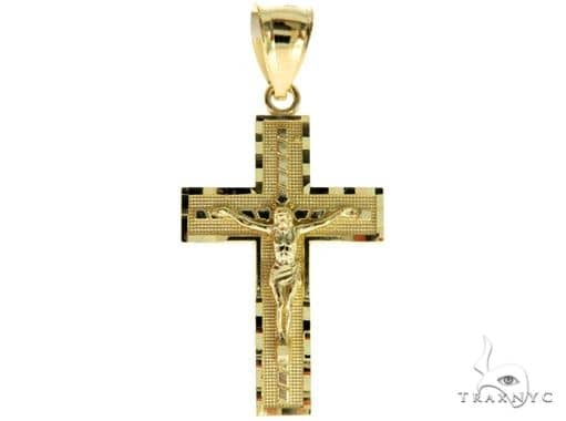10K Yellow Gold Jesus Cross 57084 Gold