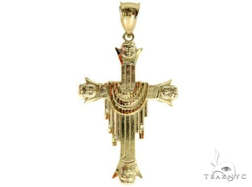 10K Yellow Gold Cross 57089 Gold