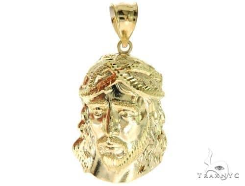 10K Yellow Gold Jesus Pendant S 57092 Metal