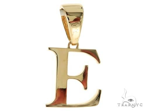 10K Yellow Gold Charming Initial 'E' Pendant 57202 Metal