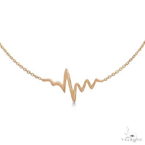 Heartbeat Bracelet in 14k Rose Gold Gold