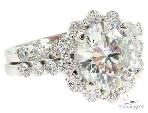 Platinum Prong Diamond Bridal Set 57224 Anniversary/Fashion