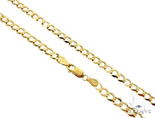 10K Cuban Curb Link Chain 30 Inches 5mm 15.00 Grams 57242 Gold