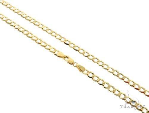 10KY Cuban Curb Link Chain 26 Inches 4mm 9.40 Grams 57243 Gold