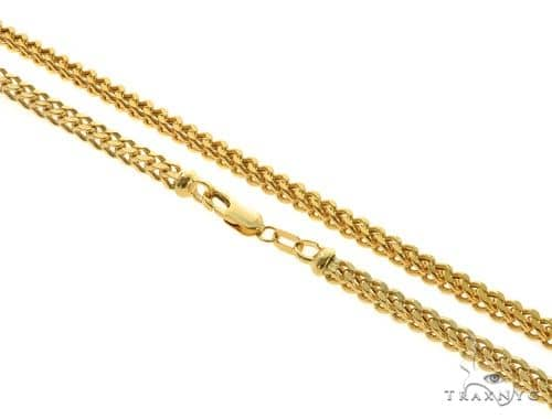 14KY Hollow Franco Link Chain 26 Inches 3.5mm 22.8 Grams 57295 Gold