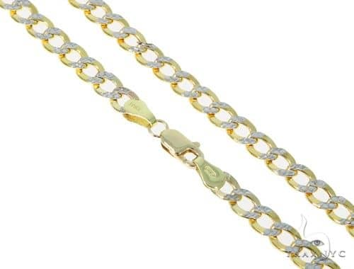 10KY Hollow Cuban Link Diamond Cut Chain 24 Inches 5mm 9.30 Grams 57609 Gold