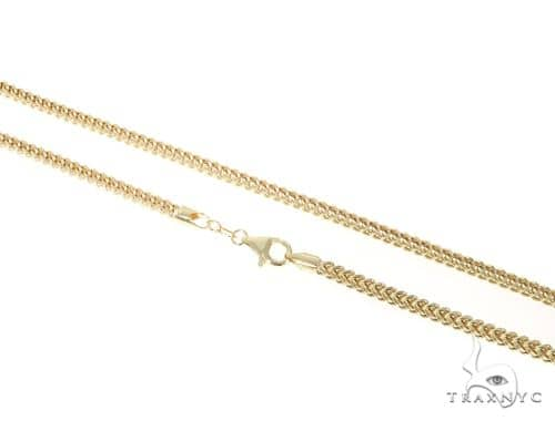 10KY Hollow Franco Link Chain 30 Inches 3mm 13.40 Grams 57645 Gold