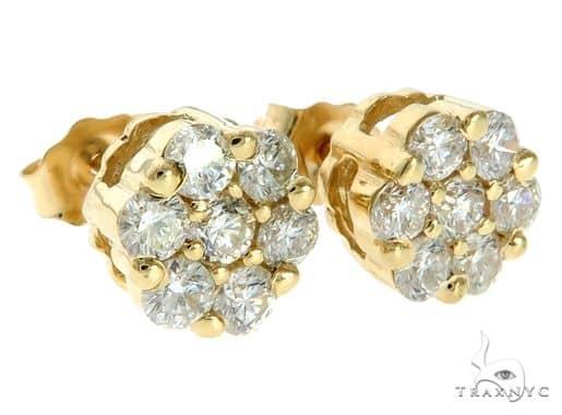 Stud Diamond Earrings Stone