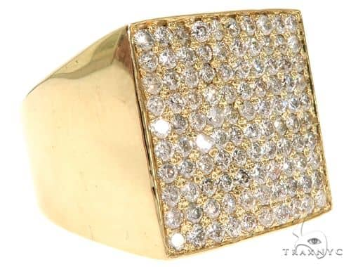 14K Yellow Gold Prong Diamond Band 61508 Stone