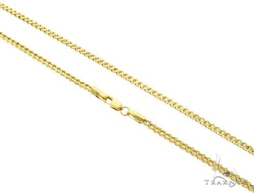 10K Yellow Gold Franco Link Chain 22 Inches 2mm 4.4 Grams 61593 Gold