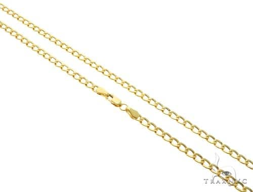 10K Yellow Gold Hollow Cuban Curb Link Chains 22 Inches 3.5mm 3.8 Grams 61600 Gold