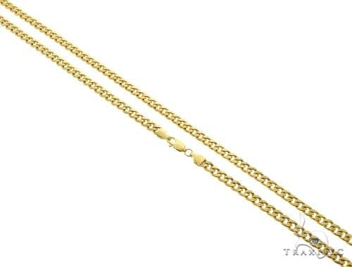 10K Yellow Gold Hollow Cuban Link Chain 26 Inches 5mm 12.7 Grams 61611 Gold