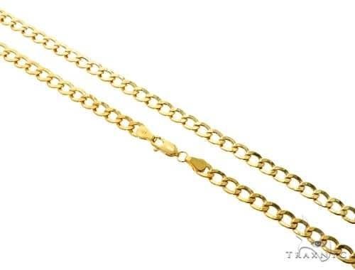 10K Yellow Gold Hollow Cuban Curb Link Chain 20 Inches 5.3mm 7.3 Grams 61645 Gold