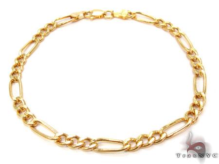10K Figaro Bracelet 33025 Gold