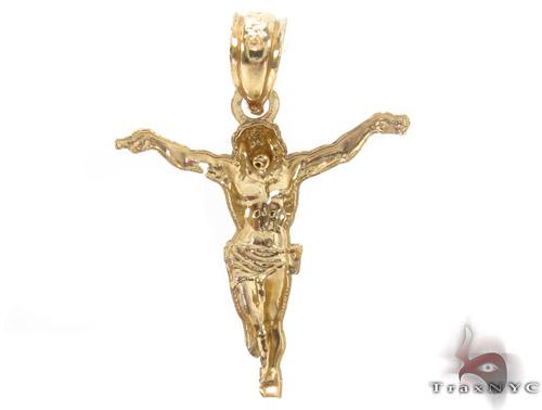10K Gold Jesus Pendant 34125 Metal