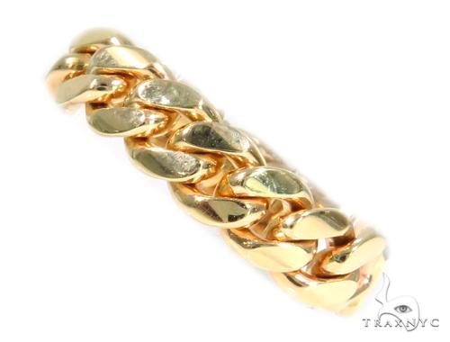 10k Yellow Gold Miami Cuban Ring 44393 Metal