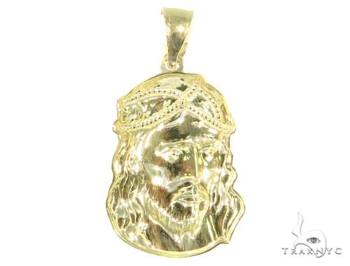 10k Yellow Gold Jesus Pendant 44473 Metal