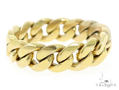 10k Gold 8.5mm Miami Cuban Link Ring 49611 Metal