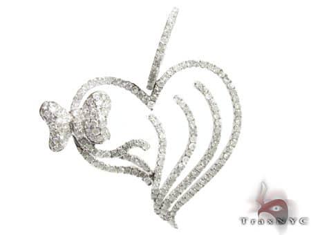 Heart & Bow Pendant Stone