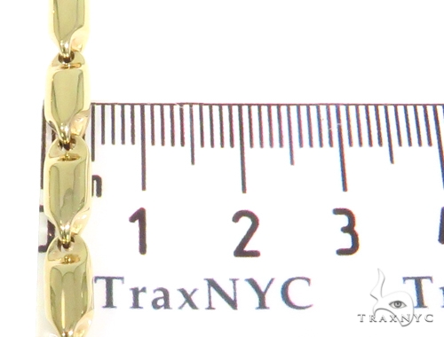 14k Yellow Bullet Gold Chain 26 Inches 5mm 29.2Grams 44350 Gold