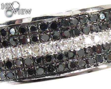 5 Row White Strip Ring Stone