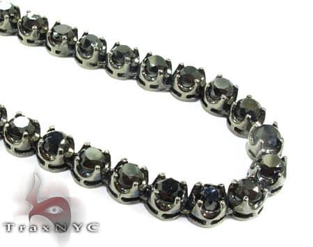 Black Diamond Chain 32 Inches 7mm 98.8 Grams Diamond